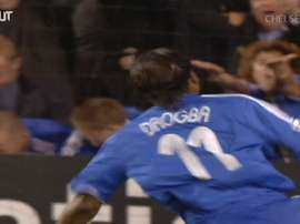 Drogba scored this goal for Chelsea. DUGOUT