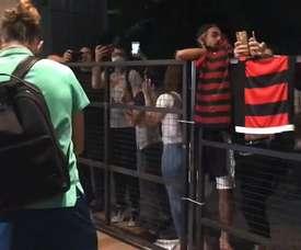 Flamengo já está na Argentina para a primeira partida das oitavas-de-final da Libertadores. DUGOUT