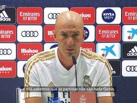 Zidane projetou um duro duelo contra o Alavés. DUGOUT