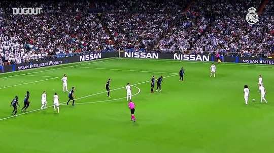 Real Madrid e seus gols na Liga dos Campeões de 2019/20