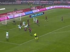 Le doublé de Lukaku contre Bologne. Dugout