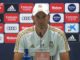 Zidane spoke to the media before the Athletic Bilbao match. DUGOUT