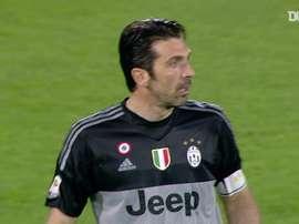 Buffon was the hero in Juventus' win at Fiorentina. DUGOUT