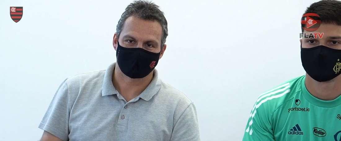 Matheus Thuler renovou com o Flamengo até dezembro de 2024. DUGOUT