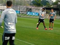 Corinthians e seu alto astral no treino. DUGOUT