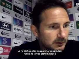 Lampard elogió a Havertz y Thiago Silva. DUGOUT