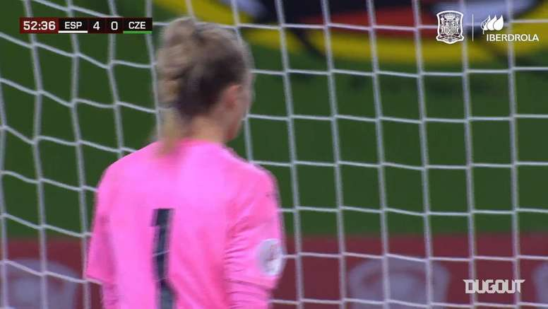 Alexia Putellas's superb volley goal for Spain. DUGOUT