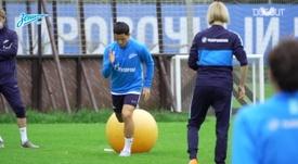 Com Malcom, Zenit treina para retorno do Campeonato Russo. DUGOUT