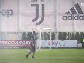 A Juventus treina esperando saber nesta semana quando a Serie A vai recomeçar. DUGOUT