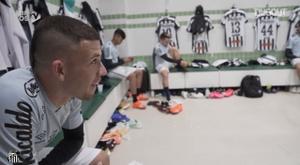 Bastidores da vitória do Santos sobre o Coritiba. DUGOUT