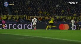 Paris Saint-Germain goals on the UCL round of 16 victory vs Dortmund. DUGOUT