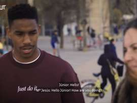 Junior Firpo spends a day in Barcelona. DUGOUT
