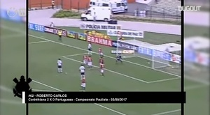 O impressionante gol olímpico de Roberto Carlos. DUGOUT