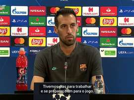 Sergio Busquets falou sobre a expectativa para a partida do Barcelona contra o Napoli. DUGOUT