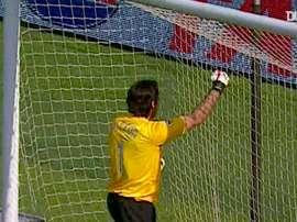 Buffon made a stunning double save. DUGOUT