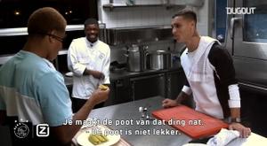 David Neres e Antony participaram de desafio culinário nos Países Baixos. DUGOUT