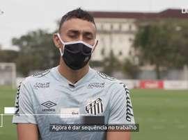 O Santos avança no retorno às atividades no CT Rei Pelé. DUGOUT