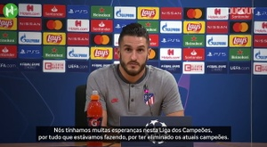 Koke lamenta eliminação do Atlético de Madrid. DUGOUT
