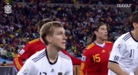 Puyol foi decisivo para a Espanha na Copa do Mundo de 2010. DUGOUT