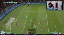 City played Liverpool at FIFA. DUGOUT