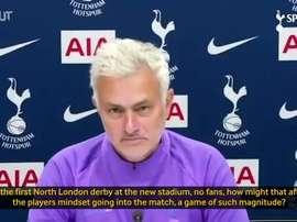 Mourinho spoke before the match. DUGOUT