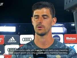 Courtois comentou a vitória do Real Madrid por 1 a 0 sobre o Getafe. DUGOUT