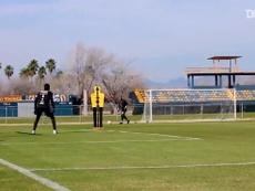 Golazos de Tigres en el entrenamiento. Captura/DUGOUT