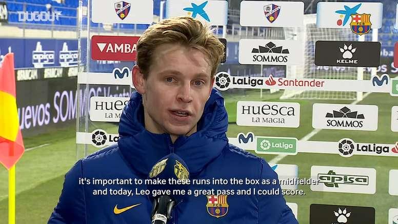 Frenkie De Jong: 'I try to score a little bit more'. DUGOUT