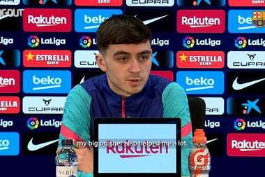 Pedri discusses Sunday's game at Elche. DUGOUT