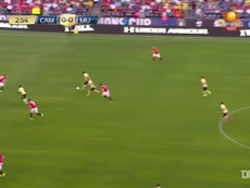 Club America were beaten 0-1 by Manchester United after an early goal. DUGOUT