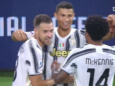 O primeiro gol de Cristiano Ronaldo pela Juventus em 2020/21. DUGOUT