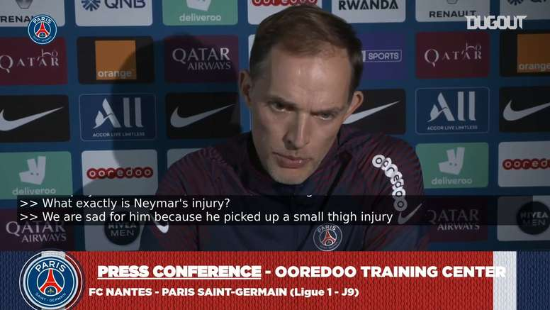 Tuchel says that Neymar will return. DUGOUT