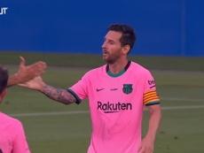 VÍDEO: los dos primeros goles de Leo Messi en el nuevo Barça. Captura/DUGOUT
