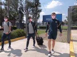Club América, ready for their game against León. DUGOUT