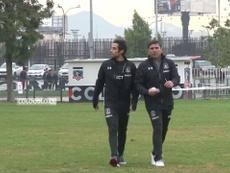 Valdivia após retorno ao Colo-Colo em 2017. DUGOUT