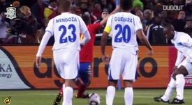 David Villa marca primeiro gol da Espanha na Copa de 2010. DUGOUT