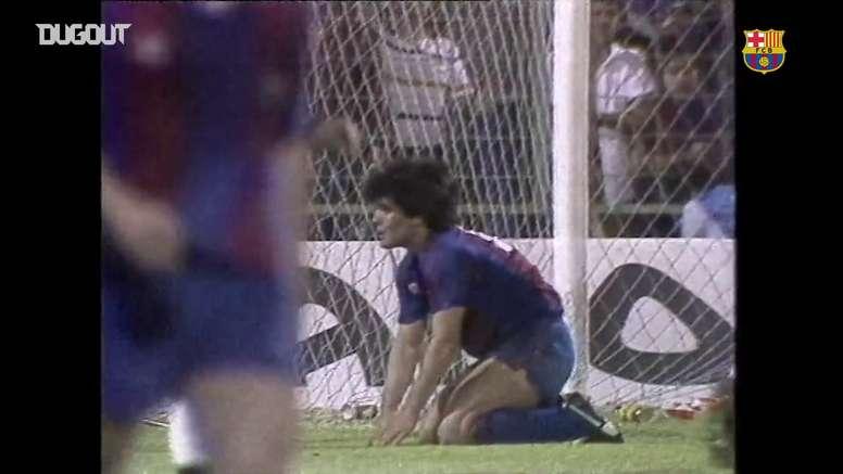 Com Maradona, Barça bate Real Madrid e fatura Copa do Rei de 1983. DUGOUT