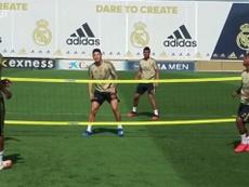 Real Madrid faz treino descontraído. DUGOUT