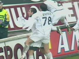 La vittoria dell'Inter siglata Zanetti-Vieri. Dugout