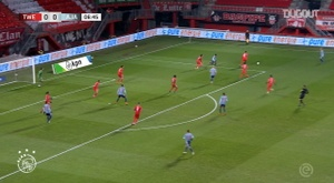 Haller's first Ajax goal vs FC Twente. DUGOUT