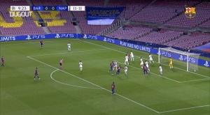 Lo mejor del Barça-Nápoles de octavos. Captura/Dugout