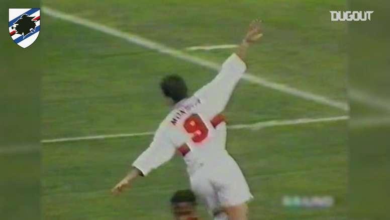 Montella firmò una doppietta contro il Lecce. Dugout