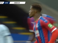 Wilfried Zaha scored an excellent goal in the loss to Chelsea. DUGOUT
