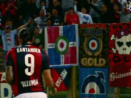 Le reti di Santander con il Bologna. Dugout