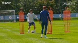 Havertz ya se entrena con el Chelsea. DUGOUT