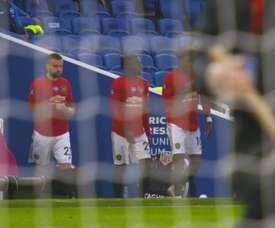 Brighton were well beaten by Man Utd 0-3. DUGOUT