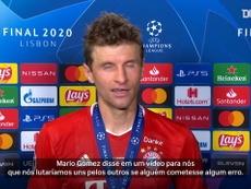 Após título, Müller se emociona ao lembrar de preleção do Bayern. DUGOUT