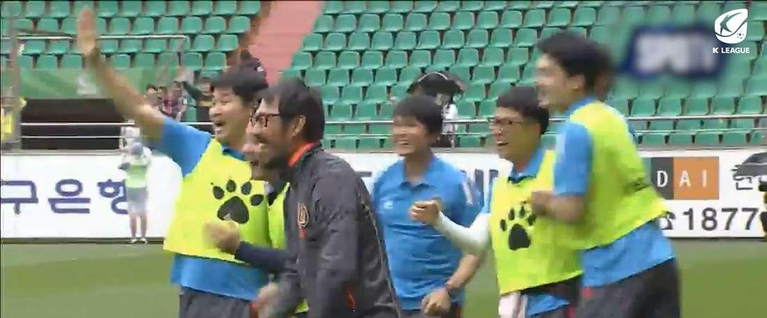 VÍDEO: el primer gol de In-Beom en la K-League. DUGOUT