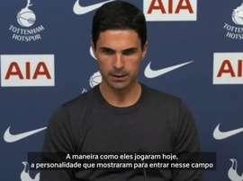 Técnico do Arsenal comentou partida contra o Tottenham. DUGOUT
