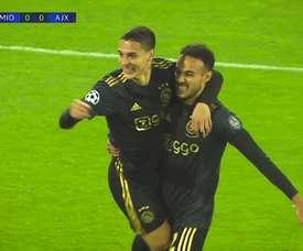Ajax chega à quinta rodada da fase de grupos da Champions na segunda posição do grupo D. DUGOUT